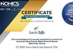 Bank bjb Terima Penghargaan Millenials Choice